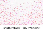 heart watercolor shape  pink... | Shutterstock . vector #1077984320