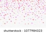heart watercolor shape  pink...   Shutterstock . vector #1077984323
