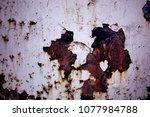 metal texture with scratches...   Shutterstock . vector #1077984788