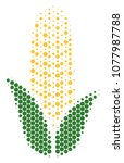 halftone circle corn icon.... | Shutterstock .eps vector #1077987788