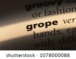 Small photo of grope word in a dictionary. grope concept