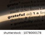 grateful word in a dictionary.... | Shutterstock . vector #1078000178