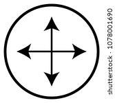 orientation symbol icon   Shutterstock .eps vector #1078001690