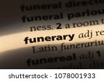funerary word in a dictionary.... | Shutterstock . vector #1078001933