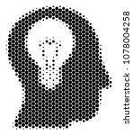 halftone circle intellect bulb... | Shutterstock .eps vector #1078004258