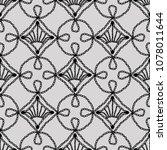 lace seamless pattern crochet... | Shutterstock .eps vector #1078011644