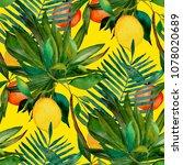 watercolor seamless pattern...   Shutterstock . vector #1078020689