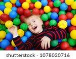 happy little boy having fun in... | Shutterstock . vector #1078020716