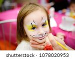 face painting for cute little... | Shutterstock . vector #1078020953