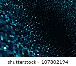 abstract dot blue mosaic...