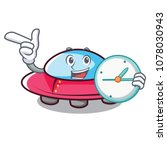 With Clock Ufo Character...
