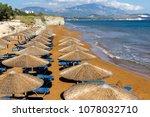 red sands of xsi beach ... | Shutterstock . vector #1078032710