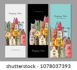 banners design  funny dogs... | Shutterstock .eps vector #1078037393