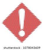 halftone circle warning icon....