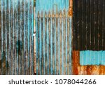 Old Rusted Corrugated Blue Gate ...