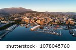 Dawn Hobart Harbour aerial