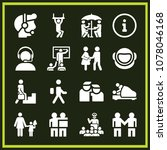 set of 16 people filled icons... | Shutterstock .eps vector #1078046168