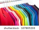 variety of casual shirts on... | Shutterstock . vector #107805203