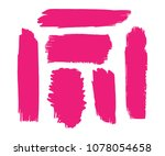 collection of hand drawn pink...   Shutterstock .eps vector #1078054658