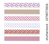 vector colorful patterned... | Shutterstock .eps vector #1078072826