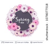 spring season flowers and sale...   Shutterstock .eps vector #1078077518