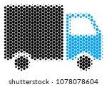 halftone circle shipment van... | Shutterstock .eps vector #1078078604