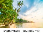 beautiful paradise island with... | Shutterstock . vector #1078089740