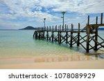enjoying this gorgeous beach | Shutterstock . vector #1078089929