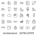 thin line icon set   butterfly... | Shutterstock .eps vector #1078113959