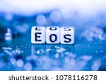 word eos formed by alphabet... | Shutterstock . vector #1078116278