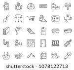 thin line icon set   cutter... | Shutterstock .eps vector #1078122713