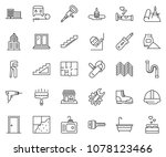 thin line icon set   office... | Shutterstock .eps vector #1078123466