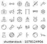 thin line icon set   volleyball ... | Shutterstock .eps vector #1078124906