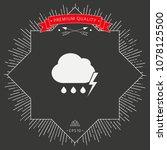 cloud thunderstorm lightning... | Shutterstock .eps vector #1078125500