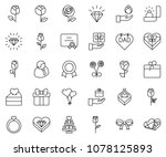 thin line icon set   diamond... | Shutterstock .eps vector #1078125893