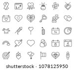 thin line icon set   24 hours... | Shutterstock .eps vector #1078125950