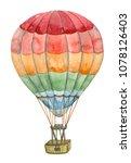 air balloon watercolor... | Shutterstock . vector #1078126403