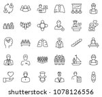 thin line icon set  ... | Shutterstock .eps vector #1078126556