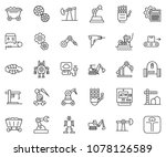 thin line icon set  ... | Shutterstock .eps vector #1078126589