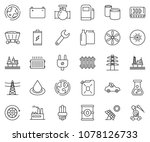 thin line icon set   offshore...   Shutterstock .eps vector #1078126733