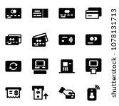 solid vector icon set   credit... | Shutterstock .eps vector #1078131713