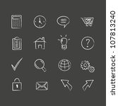 sketched web icons. hand drawn... | Shutterstock .eps vector #107813240