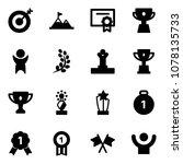 solid vector icon set   target... | Shutterstock .eps vector #1078135733
