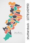 manchester map with wards and... | Shutterstock .eps vector #1078140950