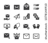 mail letter icon set | Shutterstock .eps vector #1078144910