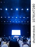 blur background of conference... | Shutterstock . vector #1078147280
