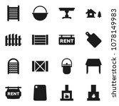 flat vector icon set  ... | Shutterstock .eps vector #1078149983