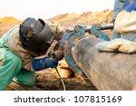 male welder worker wearing... | Shutterstock . vector #107815169