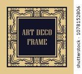 vintage ornamental decorative... | Shutterstock .eps vector #1078152806