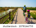 father and daughter tandem... | Shutterstock . vector #1078166753